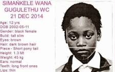 Simankele Wana went missing eight days ago. Picture: Supplied
