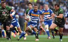 Stormers loose forward Nizaam Carr streaks through a gap in the Bulls defence during the Stormers' 16-0 win at Newlands. Picture: Facebook.
