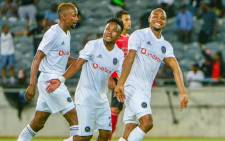 Orlando Pirates players celebrate a goal during their CAF Champions League match against Light Stars at the Orlando Stadium on 28 November 2018. Picture: @orlandopirates/Twitter