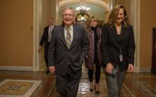 Senate Majority Leader Mitch McConnell (R-KY) leaves from the senate floor on capitol hill on January 20, 2018 in Washington, DC. Picture: AFP.