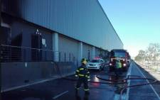 A fire broke out at the Shoprite warehouse in Brackenfell on 15 May 2018. Picture: Resq Medix