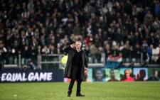 Manchester United manager Jose Mourinho gestures towards the public at the end of the Uefa Champions League Group H football match Juventus vs Manchester United at the Allianz Stadium in Turin on 7 November, 2018. Picture: AFP
