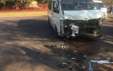 Taxi and car collision in Centurion. Picture: @ER24EMS.