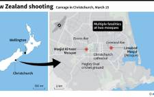 A map of Christchurch, New Zealand, showing the two mosques targeted in a gun attack that has left at least 49 people dead on Friday, 15 March. Picture: AFP