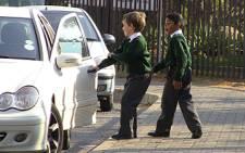 Pupils outside Rivonia Primary School. Picture: EWN