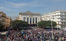 Algerians participate in a protest rally against their ailing president's bid for a fifth term in power, in the northeastern city of Annaba on 5 March 2019. Picture: AFP