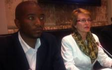 Helen Zille and Mmusi Maimane. Picture: Catherine Rice/EWN.)