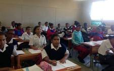 FILE: A grade seven class at Sonderend Primary School say they're relieved that the shootings have stopped in Manenberg. Picture: Shamiela Fisher/EWN