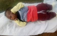 Abducted two-month-old Kwahlelwa Tiwane. Picture: SAPS