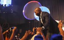 DA Leader, Mmusi Maimane greets enthusiastic supporters at the party's Workers' Day Rally. Picture: Cindy Archillies/EWN
