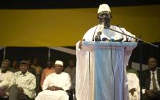 Presidential candidate and leader of opposition Soumaila Cisse addresses his supporters during a political meeting led by a coalition of 18 among the opposition parties on 7 August 2018 in Bamako. Picture: AFP.