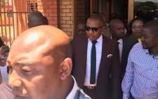 Mduduzi Manana leaves the Randburg Magistrates Court on 7 November  2017. Picture: Christa Eybers/EWN.