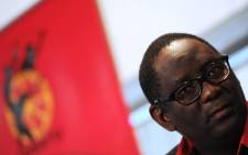 FILE: General secretary Zwelinzima Vavi is seen at a Cosatu briefing in Johannesburg, on 15 September 2014. Picture: Sapa.