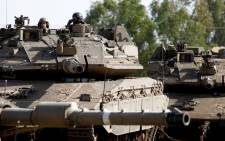 Israeli soldiers manoeuver Merkava tanks in the Israeli-annexed Golan Heights on 2 June 2019. Picture: AFP