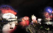 Sydney fireworks. Picture: Twitter @love_belfast.