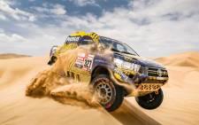 A Dakar Rally vehicle. Picture: @dakar/Twitter