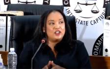 Former Trillian CEO Bianca Goodson at the state capture commission on 4 March 2021. Picture: YouTube screengrab/SABC.