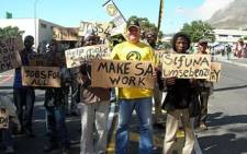 FILE: Protesters during a jobs march in Cape Town. Picture: EWN