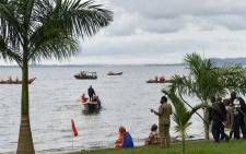 Authorities comb Lake Victoria in Uganda after a boat capsized on 25 November 2018. Picture: AFP