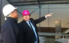 Western Cape Education MEC inspects a Delft school on site. Picture: Nathan Adams/EWN
