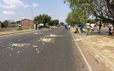 TUT students marched to the local police station demanding the arrest of the officer who allegedly shot and killed a student on Thursday night. Picture: Pelane Phakgadi/EWN