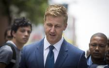 Media personality Gareth Cliff arrives at the High Court in Johannesburg for his court case against broadcaster M-Net on 26 January 2016. Picture: Reinart Toerien/EWN.
