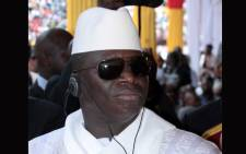 Gambian President Yahyah Jammeh attends the inauguration ceremony of the new president of Guinea-Bissau in a stadium in the capital Bissau on June 23, 2014. Picture: AFP.