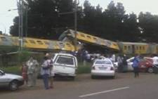 Two Metrorail trains collide between New Era and Springs on the East Rand on 2 February 2009. Picture: iWitness