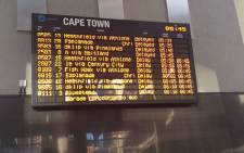 Several trains were delayed following a power failure near Cape Town Station on 29 January 2016. Picture: @cheflow2 via Twitter.