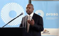 FILE: Former Passenger Rail Agency of South Africa (Prasa) head Lucky Montana. Picture: Alexander Joe/AFP.