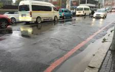 FILE: Traffic in the Cape Town CBD was heavily affected by heavy rains on Friday 22 April 2016. Picture: Xolani Koyana/EWN.