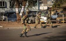 Members of the defence force seen during election protests in Zimbabwe on 1 August 2018. Picture: Thomas Holder/EWN.