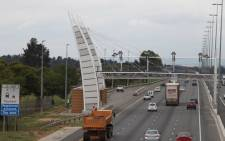An e-toll gantry on the N1 in Johannesburg. Picture: Christa Eybers/EWN.