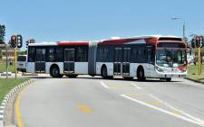 One of the buses in the troubled R2-billion IPTS project. Picture: nelsonmandelabay.gov.za