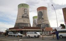 ANC leaders adorn cooling towers in Mangaung. Picture: Taurai Maduna/EWN