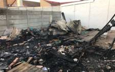 Two children were killed in a wendy house fire in Mitchells Plain, Cape Town. Picture: Supplied.