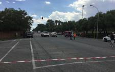 Police have confirmed two suspects have been shot dead and three others have been arrested in a robbery at the Edenvale High school. Picture: Kgomotso Modise/EWN.