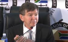 A screengrab of ENS forensics director Stephen Powell appearing at the state capture inquiry on 25 November 2020. Picture: SABC/YouTube