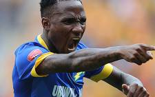 Mamelodi Sundowns's midfielder Teko Modise celebrates his goal against Kaizer Chiefs on 22 November 2014. Picture: Facebook.com