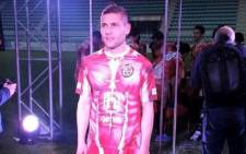 Club Deportivo Palencia's 'inside-out' kit, made by Italian sportswear company Kappa. Picture: Facebook