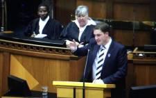 FILE: DA MP GG Hill-Lewis in Parliament. Picture: Thomas Holder/EWN.