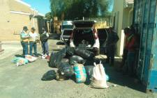A total of 28 bags of dagga were confiscated in Laingsburg on 12 February 2014. Picture: Supplied.
