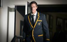 FILE: Jean de Villiers walks to the stage in Durban after being announced as the Springbok captain for the RWC 2015 tournament. Picture: Anthony Molyneaux/EWN