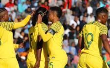 Banyana Banyana players celebrate during a Cosafa Women's Championship match against Comoros, where they won 17-0. Picture: @Banyana_Banyana/Twitter.