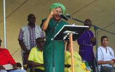 Mbete was addressing ANC supporters at a rally in Grabouw today while a cloud hangs over two of the party's provincial leaders. Picture: Thomas Holder/EWN.