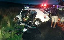 Two people were killed in a head-on collision on the R59 near Parys. Picture: @ER24EMS