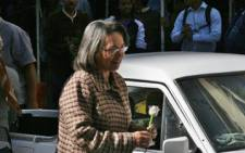 Cape Town mayor Patricia de Lille visits vendors after striking Samwu workers trashed the CBD on Tuesday 16 August 2011. Picture: Tim Holliday/iWitness