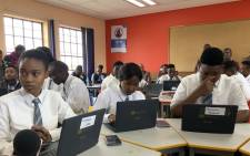 FILE: Panyaza Lesufi at Soshanguve East Secondary School for the launch of the Gauteng Education Department's e-learning platform. Picture: @EducationGP/Twitter