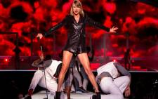 Taylor Swift performs on stage during her world tour in May 2015. Picture: AFP.