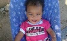 Six-month-old Zahnia Thorne Woodward. Picture: Facebook.com.